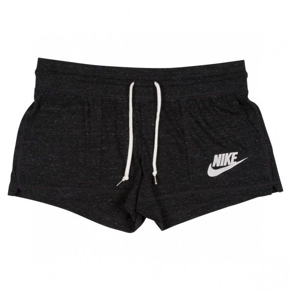 Nike Sportswear GYM VINTAGE SHORTS Black/Sail Hype DC ($44) ❤ liked on Polyvore featuring activewear, activewear shorts, shorts, vintage sportswear, nike, nike sportswear, logo sportswear and nike activewear