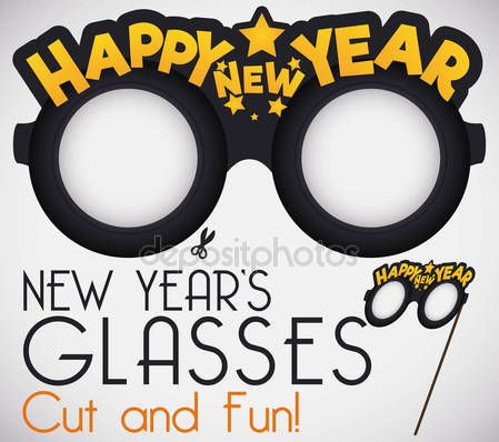 Design with Funny Cut it for New Year's Glasses