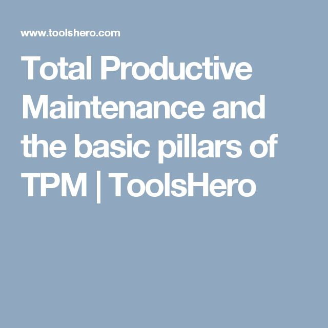 total productive maintenance paper Concepts of total productive maintenance (tpm) helping firms to  the various  tools used for analysing the data for this research paper is.