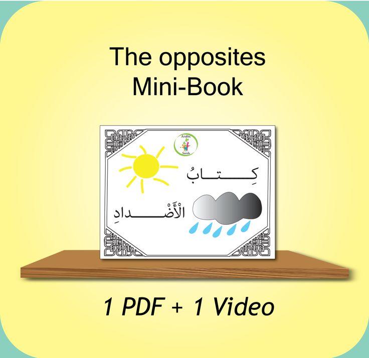 www.arabicplayground.com Opposites mini Book – PDF & Video by Arabic Seeds