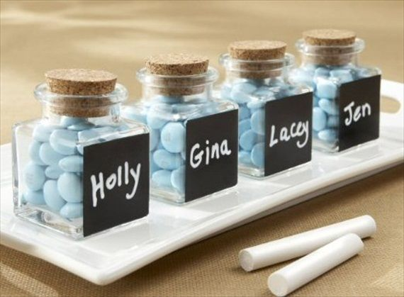 glass and cork favor bottles wedding favor containers
