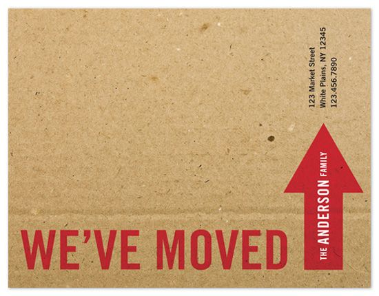 cardboardGoogle Image, Creative Moving, Big Moving, Moving Announcements, Cute Ideas, Fun Moving, Larsen Design, Moving Cards, Amanda Larsen