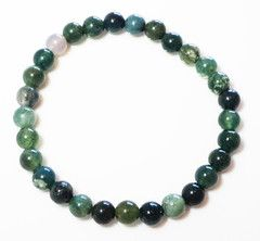Hari+Klia Green Moss Agate crystal bracelet buy now at www.wanderingmarket.com