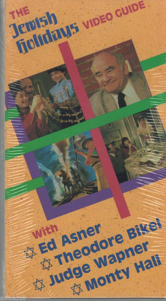 The Jewish Holidays Video Guide Ed Asner Judge Wapner Monty Hall Bikel VHS 1987
