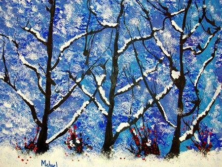 LOVE these winter trees, by 4th