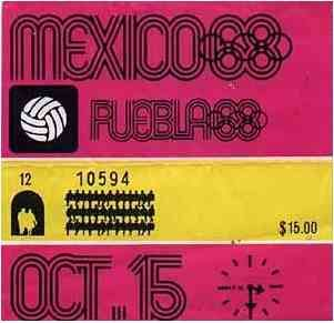 Mexico 1968 Olympics Ticket - Lance Wyman, Beatrice Colle, Jose Luis Ortiz, Jan Stornfeld