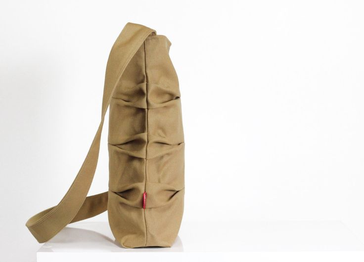 $  Camel Color Wrinkled Pleats Small Canvas Bag Crossbody and Shoulder Use Washable Zipper Closure Small Tote Bag DIFFERENT COLOR AVAILABLE by hippirhino         #Diaperbag  #washable #messengerbag #vintage #onlineshop #cottonbag #vintage  #Shoulderbag  #dufflebag