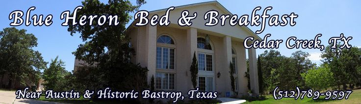 Bed and Breakfast Austin and Bastrop Texas