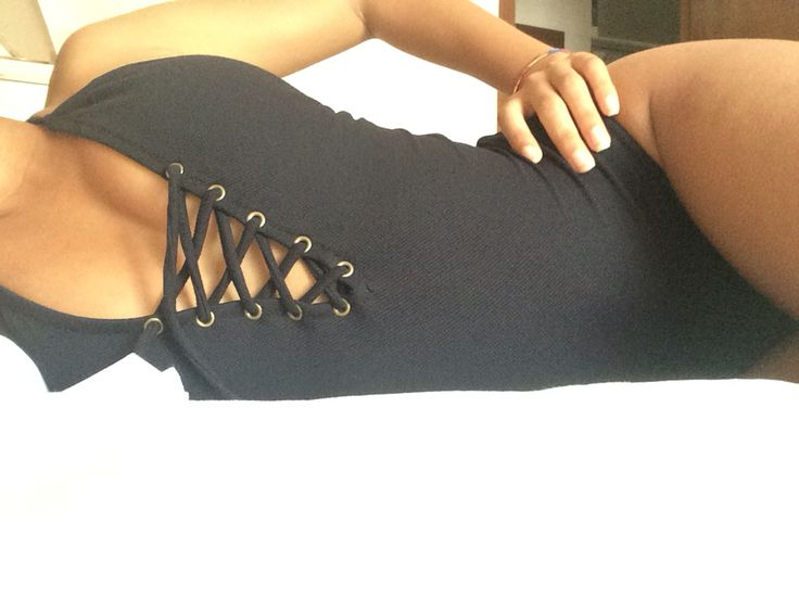 Black swimsuit with by #pimkie