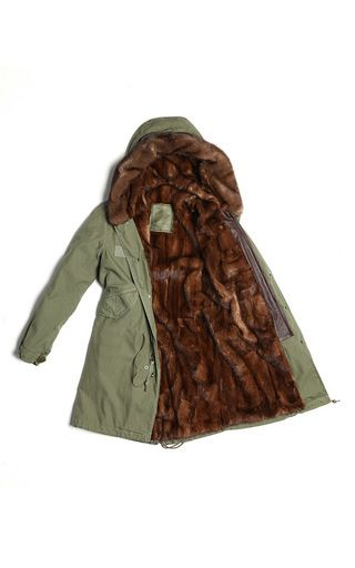 Army Parka With Natural Mink by MR & MRS ITALY for Preorder on Moda Operandi