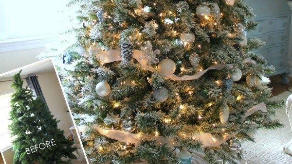 ΤΟ ΑΠΟΛΥΤΟ ΧΡΙΣΤΟΥΓΕΝΝΙΑΤΙΚΟ DIY!! Πώς το παλιό σας Δέντρο θα μοιάζει Χιονισμένο Εύκολα και Ανέξοδα;