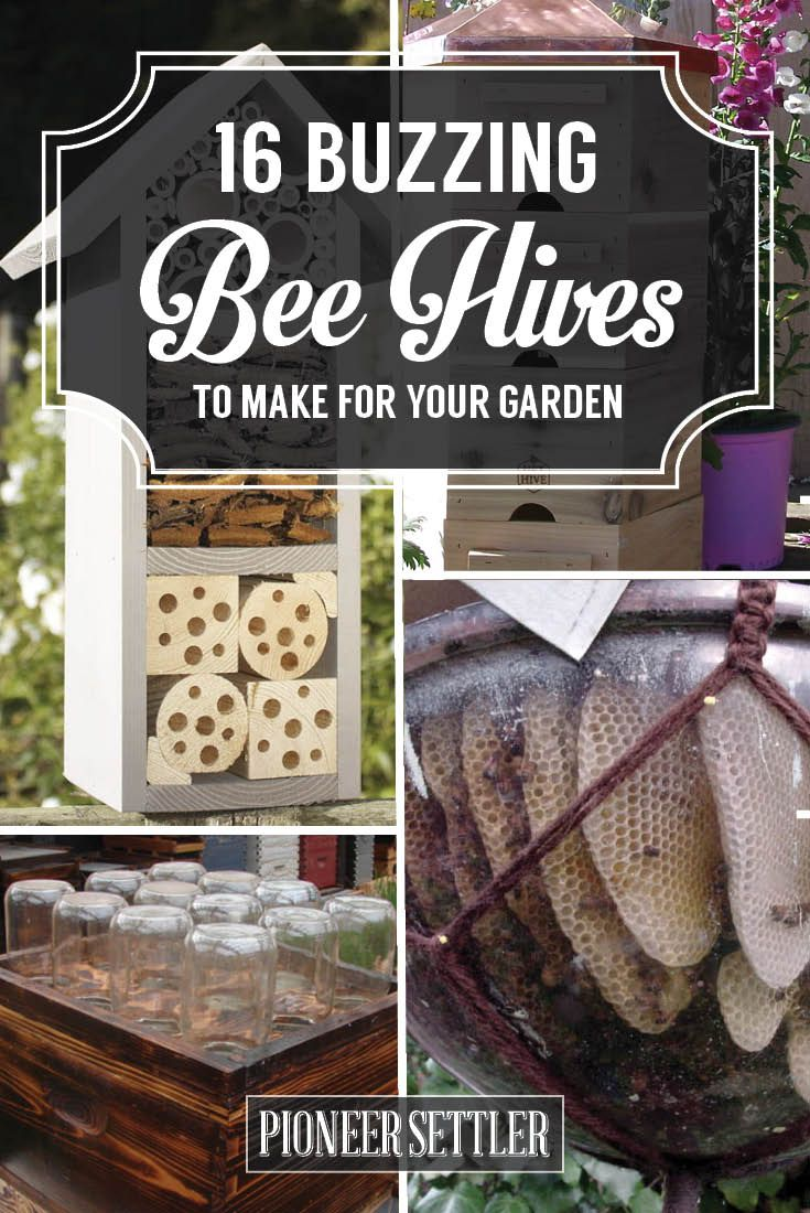16 Buzzing Bee Hive Plans - Build a safe place to save the bees! at http://pioneersettler.com/best-bee-hive-plans