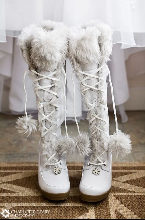 fur boots for a winter wedding - I love these....but can't seem to find them anywhere :-(  Please, If anyone has any idea or a link to where they can be purchased...let me know.