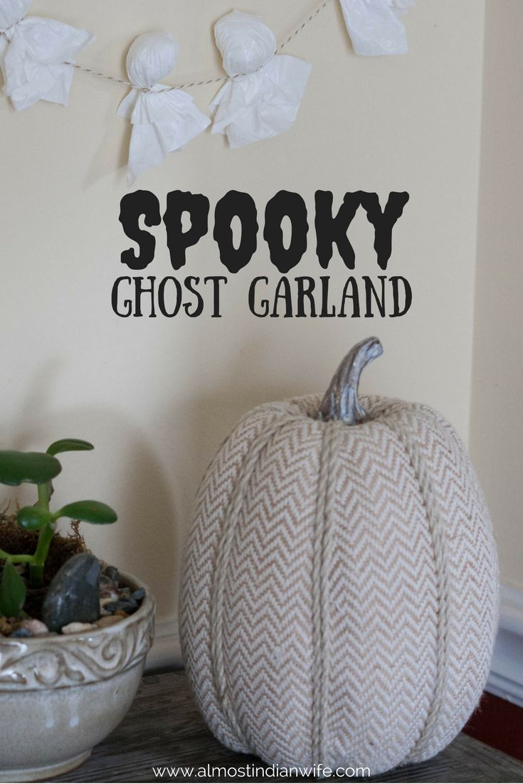 Simple Halloween Decor Part - 30: Spooky Ghost Garland. Spooky Halloween DecorationsHalloween ...