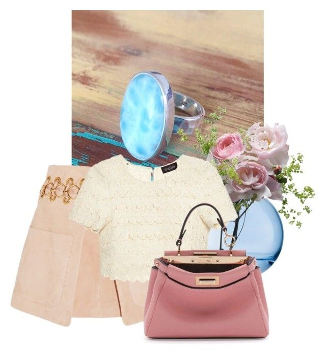 MAHIYA by mileypiters on Polyvore featuring Saloni, Chloé, Fendi and LSA International