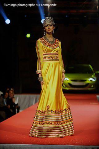 Robe kabyle jaune citron