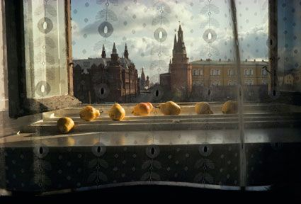 Sam Abell - Pears and Red Square (1983)
