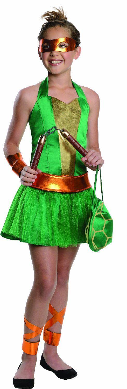 New Girls  M 8-10 TMNT Teenage Mutant Ninja Turtles dress costume green dress up