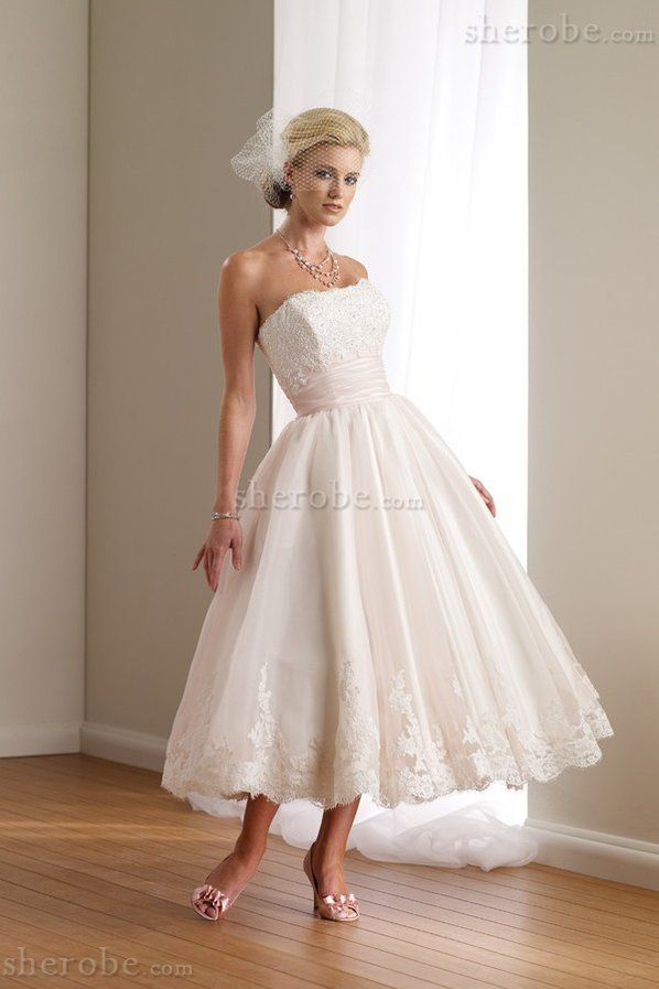 Robe de mariée robe bouffante equipé de toile appliques en dentelle en organza - Photo 1
