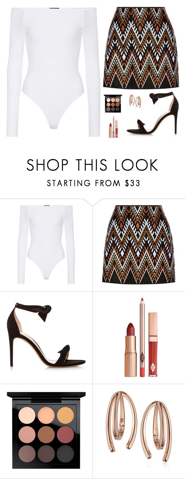 """Untitled #5225"" by mdmsb on Polyvore featuring ATM by Anthony Thomas Melillo, DKNY, Alexandre Birman, MAC Cosmetics and Bea Bongiasca"