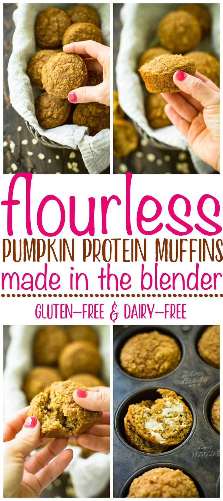 Moist and packed with fall flavor and the perfect amount of spice, these Pumpkin Protein Muffins are so delicious that I can guarantee no one will ever know that they're loaded with protein and healthy carbs, and that they are low in sugar! With this winning combination of flavor and nutrition, they are sure to be a hit this fall season! AD #sodeliciousdairyfree