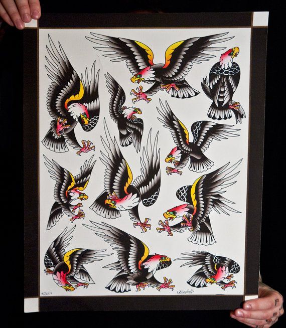 Eagle Print Pork Chop Sheet Flash Sheet Braden by TwoCrowsPrinting