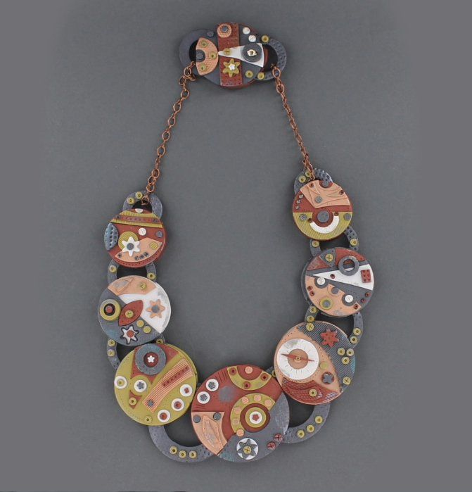 Premo Accents Weird Gears Steampunk Necklace by Anke Humpert - Free Tutorial on the Sculpey website