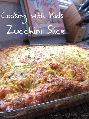 Zucchini Slice. A healthy and delicious recipe to get veggies into kids. Better still, have them make it.