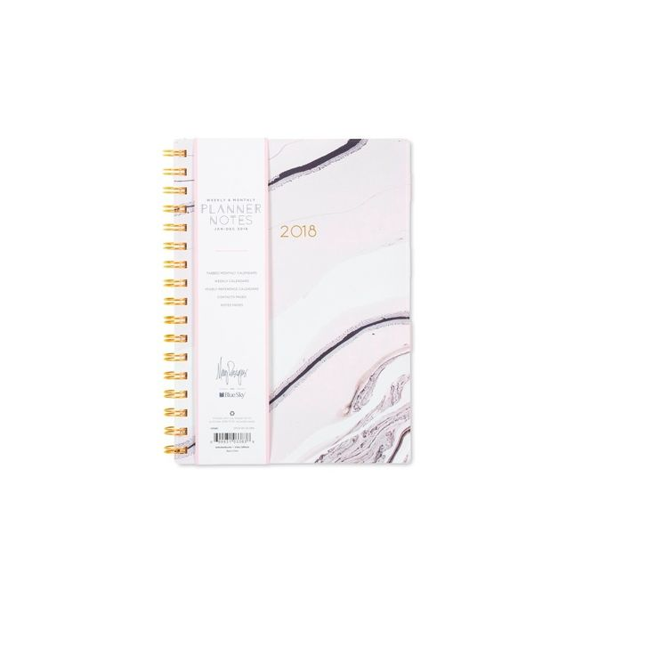 2018 May Designs Planner Notes Weekly Monthly Medium Hardcover -