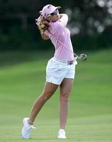 Paula creamer white shorts