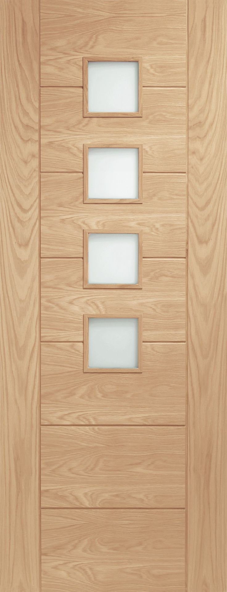 XL - GOPAL33 Internal Oak Palermo with Obscure Glass - Glazed Doors - Internal Doors