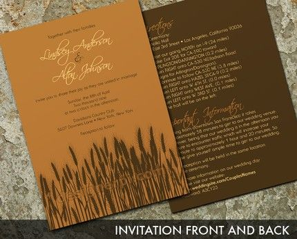 Find Your Perfect Fall Wedding Themes (Parte Two) | Elegant wedding invites