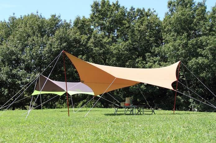 今さら聞けない オープンタープを効率的に しかも美しく張る方法 アウトドア キャンプ キャンプ場