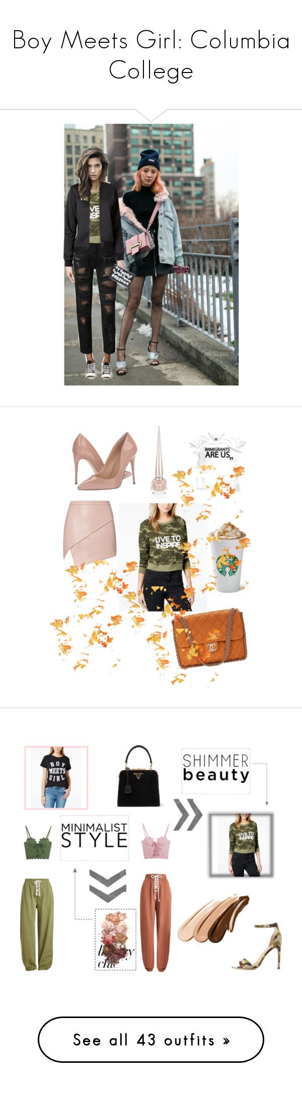 """""""Boy Meets Girl: Columbia College"""" by kszaman ❤ liked on Polyvore featuring Tommy Hilfiger, Boy Meets Girl, Comme des Garçons, Michelle Mason, Christian Louboutin, Chanel, Steve Madden, Mark & Maddux, Prada and Puma"""
