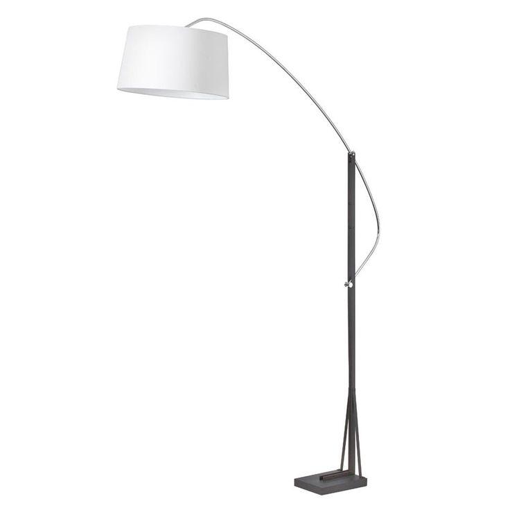 Dainolite 585f pc bk 1 light arc floor lamp lowes 477