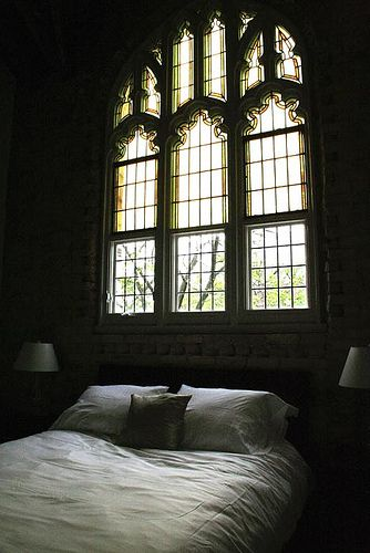 Who says amazing archaic glass windows can't go in your bedroom or bathroom?