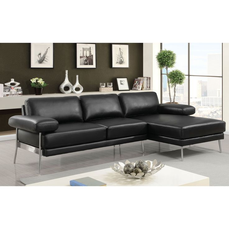 Ella Modern Leather Sectional by FOA (
