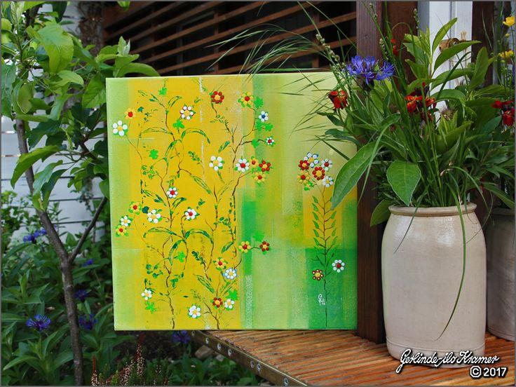 SummerDay, Every Day, Flower Day ..... ☼ Acryl auf Leinwand 40 x 40 cm