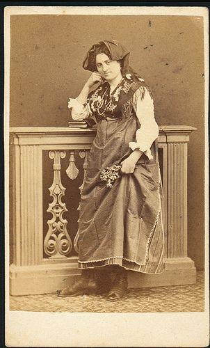 Italian Vintage Photographs ~ #Italy #Italian #vintage #photographs #family #history #culture ~ Italian woman in folk dress