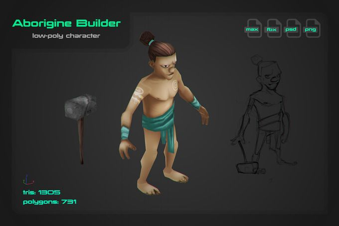 Aborigine Builder by stallfish's art store on @creativemarket