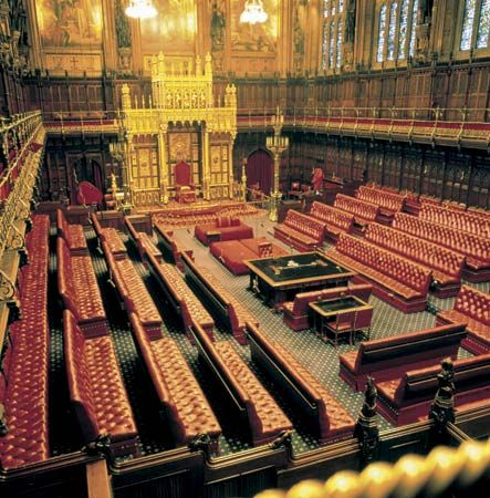 house of lords chamber 1847, A.W.N. Pugin, designer and Charles Barry, architect