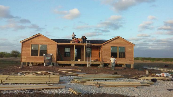 Our 3bed 2bath cabin being built in robstown tx cabins for Hunt texas cabins