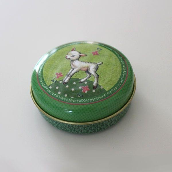 Boîtes de rangement, Boîte métal ronde Le Petit Mouton Froy and Dind est une création orginale de Boutique-Chatfoin sur DaWanda