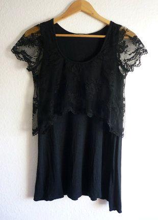 À vendre sur #vintedfrance ! http://www.vinted.fr/mode-femmes/tuniques/25385100-tbe-top-tunique-debardeur-long-avec-crop-top-dentelle-bobo-romantique