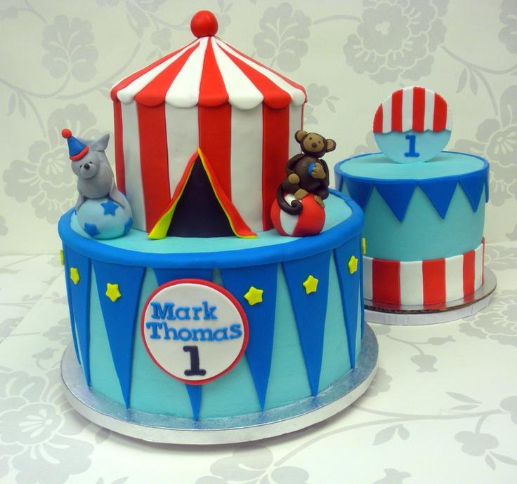 Circus cake and smash cake