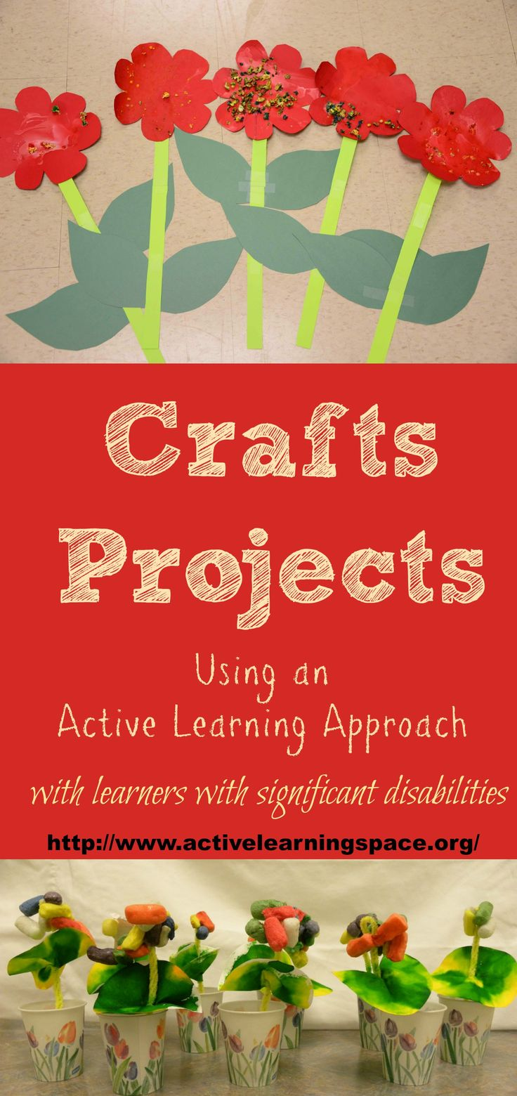 These ideas for crafts projects use an active learning approach for learners with significant multiple disabilities.