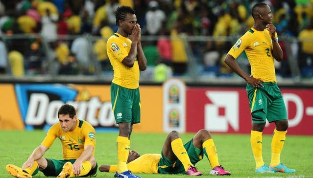 Bafana Bafana bow out of 2015 African Nations Cup Bafana Bafana's hopes of proceeding to the next round of the 2015 African Cup of Nations tournament were dashed on Tuesday night, following a 2-1 loss to the resilient Black Stars of Ghana at packed Estadio de Mongomo in Equatorial Guinea. http://www.thesouthafrican.com/bafana-bafana-bow-out-of-2015-african-nations-cup/