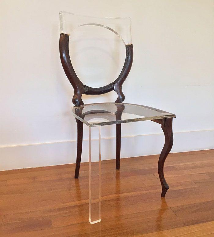 Artist Fixes Broken Wood Furniture With Translucent Materials