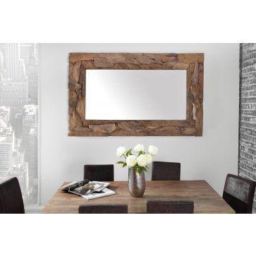 miroir mural simili cuir blanc capitonn de strass see more from france miroir mural design en bois massif de teck coloris naturel - Miroir Mural Blanc Simili Cuir Strass