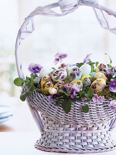 Easter Eggs Pattern - Easter Egg Decorations - Good Housekeeping